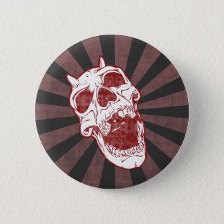 Demon Skull 2 Inch Round Button