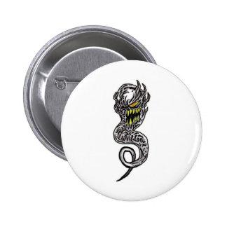 Demon Tattoo Art Pinback Buttons