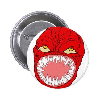 Demon Tooth Face Art Buttons