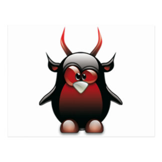 Demon Tux (Linux Tux) Postcard
