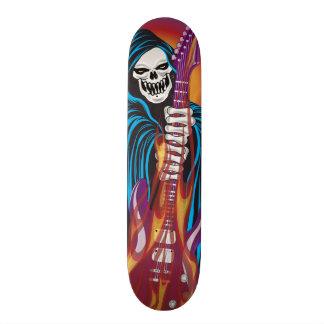 Demon with Flaming Guitar Skate Board Decks