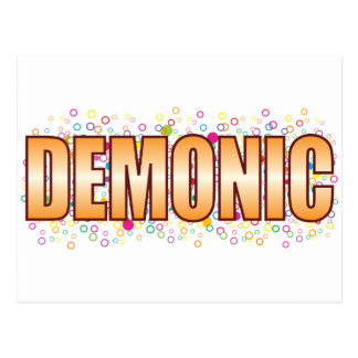 Demonic Bubble Tag Postcard