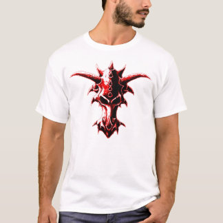 Demonic Dragon Skull Red T-Shirt