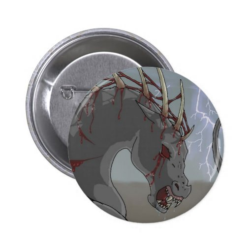 Demonic Horse Pinback Buttons