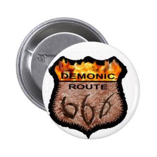 Demonic Route 666 Pin