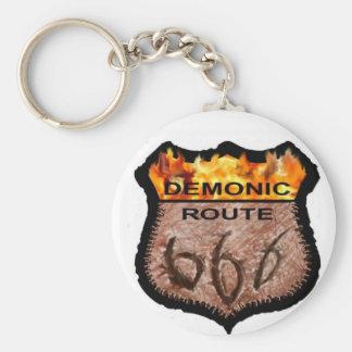 Demonic Route 666 Keychain
