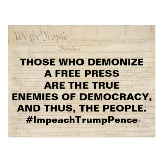 Demonize a Free Press True Enemy of People Postcard