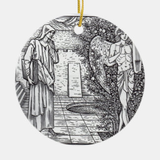 DEMONS AND ANGELS ROUND CERAMIC ORNAMENT