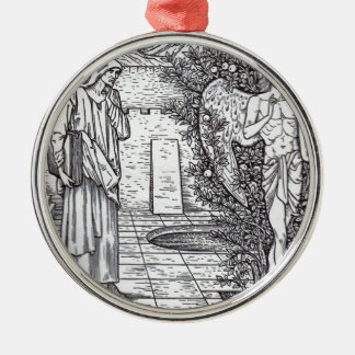 DEMONS AND ANGELS Silver-Colored ROUND ORNAMENT