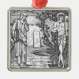 DEMONS AND ANGELS Silver-Colored SQUARE ORNAMENT