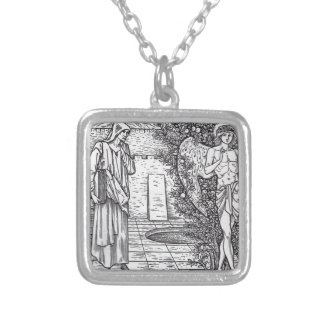 DEMONS AND ANGELS SILVER PLATED NECKLACE