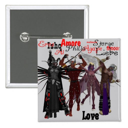 Demons for Love Pinback Button