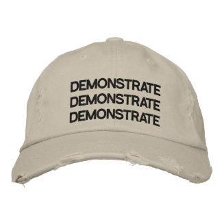 Demonstrate Adjustable Hat Distressed Stone