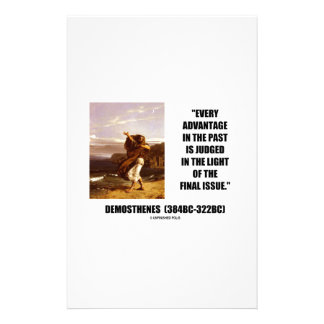 Demosthenes Advantage Judged Final Issue Quote Stationery Paper