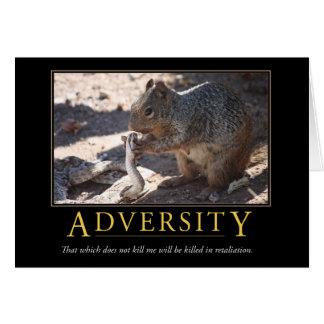 Demotivational Card: Adversity Card