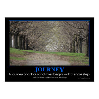 Demotivational: Journey of 1000 miles Poster
