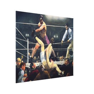 Dempsey and Firpo Canvas Print