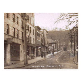 Dempsey Ave., Edgewater, New Jersey Vintage Postcard