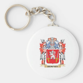 Dempsey Coat of Arms - Family Crest Basic Round Button Keychain