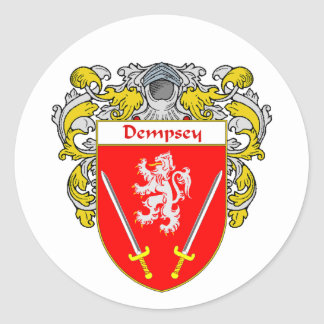 Dempsey Coat of Arms (Mantled) Round Sticker