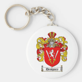 DEMPSEY FAMILY CREST -  DEMPSEY COAT OF ARMS BASIC ROUND BUTTON KEYCHAIN