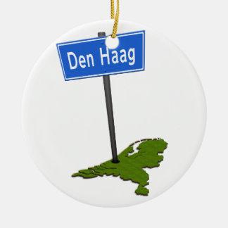 Den Haag verkeersbord Ceramic Ornament