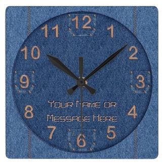 Den-i-Mite! (Personalized) Square Wall Clock