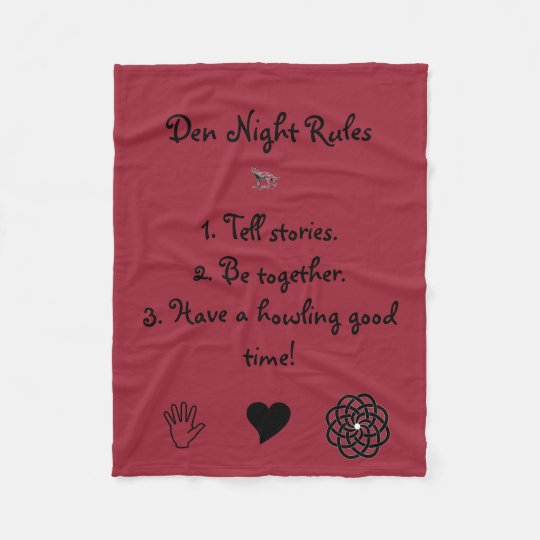 Den Night Rules Blanket