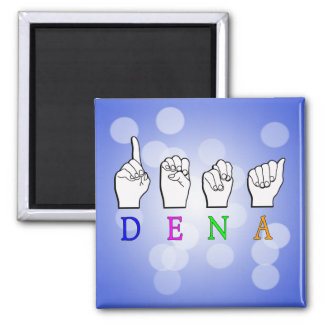 DENA FINGERSPELLED ASL NAME SIGN MAGNET