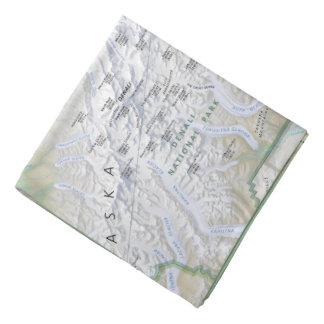 Denali (Alaska) map bandana