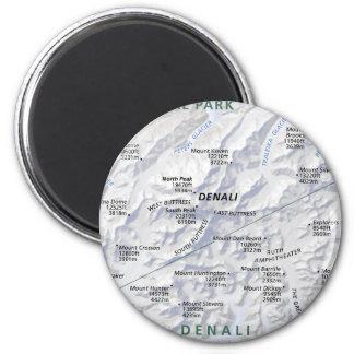 Denali (Alaska) map magnet