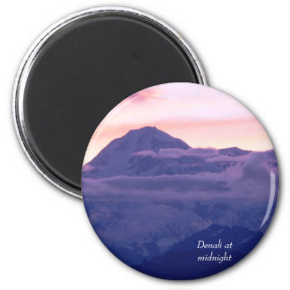 Denali at Midnight 2 Inch Round Magnet