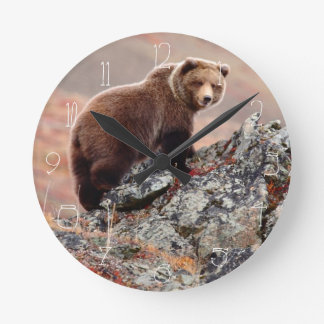 Denali Brown Bear Clock