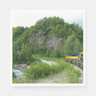 Denali Express Alaska Train Vacation Photography Paper Napkin