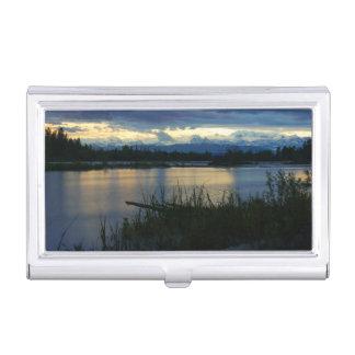 Denali Midnight Sunset Business Card Holder