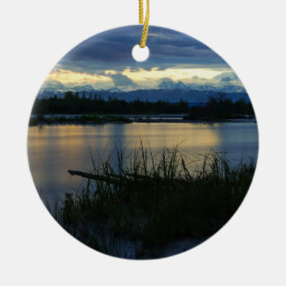Denali Midnight Sunset Ceramic Ornament