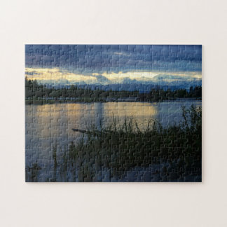 Denali Midnight Sunset Jigsaw Puzzle