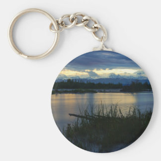 Denali Midnight Sunset Keychain