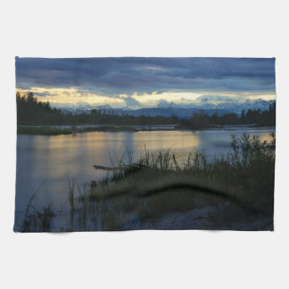 Denali Midnight Sunset Kitchen Towel
