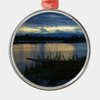 Denali Midnight Sunset Metal Ornament