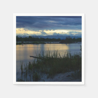 Denali Midnight Sunset Paper Napkins