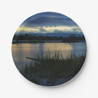 Denali Midnight Sunset Paper Plate