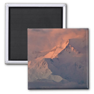 Denali Morning Square Magnet