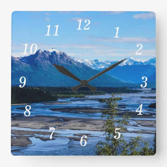 Denali Mountain Range Clocks