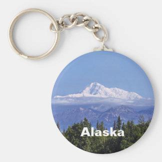 Denali (Mt. McKinley) Basic Round Button Keychain