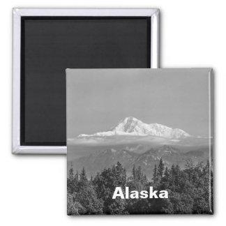 Denali (Mt. McKinley) Square Magnet