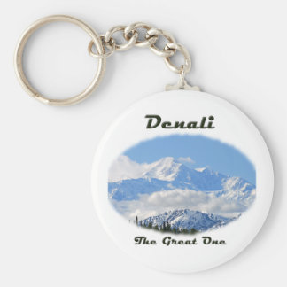 Denali / The Great One Basic Round Button Keychain