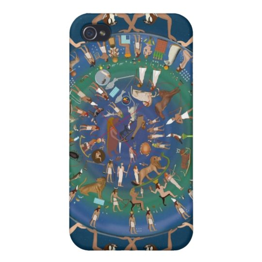 Dendera Zodiac Temple of Hathor iPhone 4 Cases