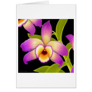 Dendrobium Orchid Flower Greeting Card