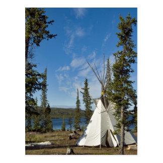 Dene Tribe gathering, Northwest Territories, Postcard